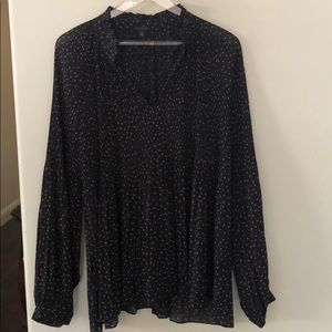 Ann Taylor Flowy Pleated Blouse